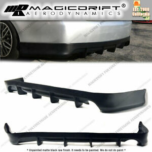For 07 11 Toyota Camry Df Style Rear Lower Bumper Diffuser Lip Spoiler Body Kit
