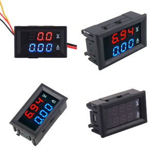 Dc0 100v Dual Led Digital Voltmeter Ammeter Panel Voltage Current Tester Display