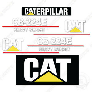 Caterpillar Cb224e Heavy Weight Decal Kit Vibratory Smooth Drum Roller Cb 224 E