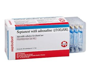 Septanest 1 00 000 With 4 50 Cartridge By Septodont Free Shipping