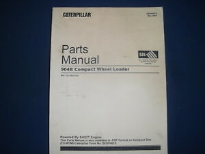 Cat Caterpillar 904b Compact Wheel Loader Parts Manual Book S n B4l1 up