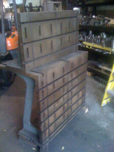 Precision Horizontal Adjustable Angle Plate Good Condition For Boring Mill