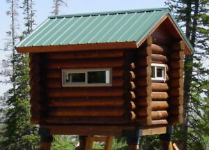 Tiny Log Cabin 8 X 12 Shell Kit Logs And Fasteners Only Free Shipping