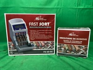 Royal Sovereign Fs 3d Coin Sorter Digital Automatic Fast Sort W Box ss2022054