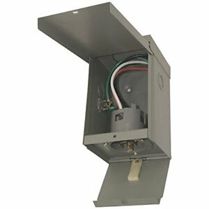 Egspi50 50a Rainproof Generator Power Inlet Box With Cover Gray