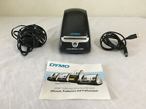 Dymo Labelwriter 450 Label Thermal Printer With Power Adapter Cords