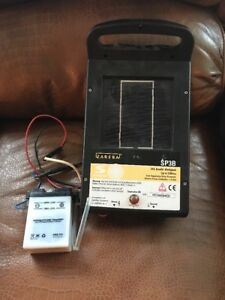 Zareba Sp3b Solar Electric Fence Charger 6 Volt Untested