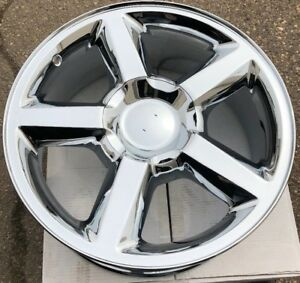 One 20 Chrome Wheel Rim Fits Chevrolet Tahoe Suburban Silverado Avalanche New