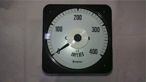 Crompton Ammeter Panel Meter 077 05fa lssa c6 Scaled 0 400 Amps Ac