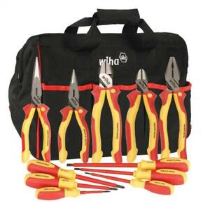 Wiha 32390 Insulated Pliers Cutters Drivers 1000 Volt In Canvas Tool