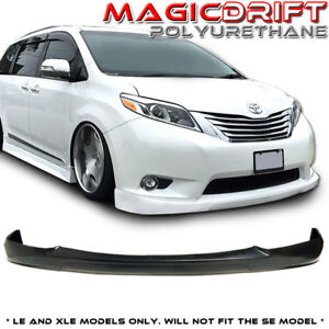 For 11 17 Toyota Sienna Le Citykruiser Ck Vip Style Front Bumper Lip Body Kit