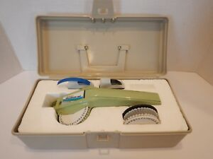 Vintage Dymo Label Maker Embossing 1610 Organizer With Case Tape 3 Wheels 1966