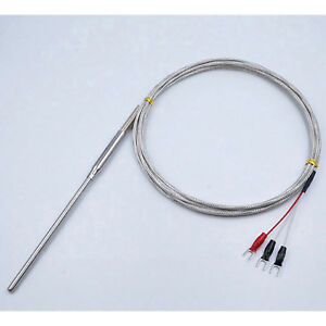 Rtd Pt100 Ohm Probe Sensor L 100mm Sleeve Type D 4 8 2m With 3p Lead Cable