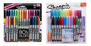 Sharpie Ultra fine Point Permanent Markers 80s Glam And Electro Pop Colors 48