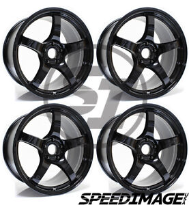 4x Gram Lights 57cr 18x9 5 38 5x114 3 Glossy Black Set Of 4 Wheels Wheel
