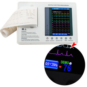 Lcd 12 lead Ecg Cable 3 channel Electrocardiograph Ekg Machine Monitor Printer
