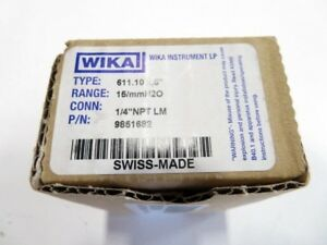 Wika 9851682 611 10 2 5 Low Pressure Gauge 15 h2o And 380mm h20