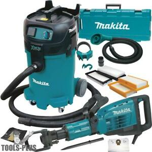 Makita Hm1307cb 1 1 8 Hex Demolition Hammer W hepa Vac Dust Extraction New