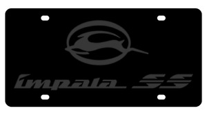 New Chevrolet Impala Ss Black Word On Black Stainless Steel License Plate