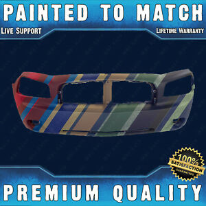 New Painted To Match Front Bumper Fascia Direct Fit For 2006 2010 Dodge Charger