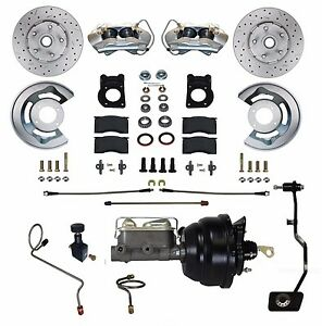 1970 Ford Mustang Cross Drilled Disc Brake Conversion Kit Power Manu Trans