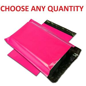 Hot Pink Poly Mailers Shipping Envelopes Self Sealing Mailing Bags All Sizes