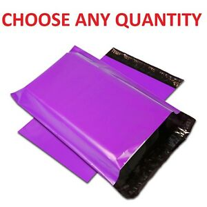 Purple Poly Mailers Shipping Envelopes Self Sealing Mailing Bags All Sizes