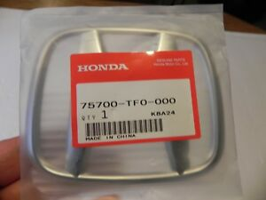 Genuine Honda Emblem Part 75700 tf0 000