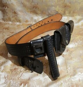 Dutyman 1021 Full Grain Leather Basketweave Belt accessories Police Officer 48