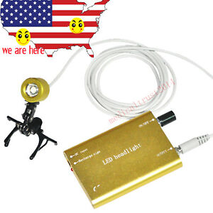 Yellow Golden Rechargeable Battery Clip on Led Headlight Lamp Kit For Any Loupes
