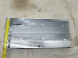 Used Large Finned Aluminum Heat Sink Measure 13 1 2 X6x 1 3 8 Led