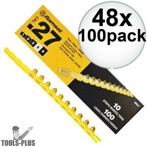 Ramset 4rs27 48x Box Of 100 4 yellow 27 Cal Strip Loads New