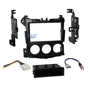 Car Radio Stereo Single 2 Din Dash Kit Wire Harness For 2009 up Nissan 370z