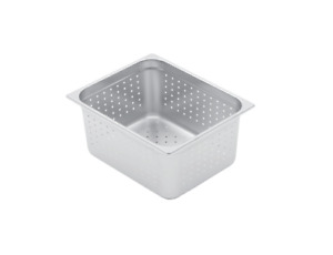 Mix Rite Hotel Pans Full Size Pan With 2 1 2 Depth 12 Pack Perforated