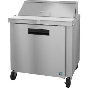 Hoshizaki Crmr36 10 Refrigerator Single Section Sandwich Prep Table Stainle