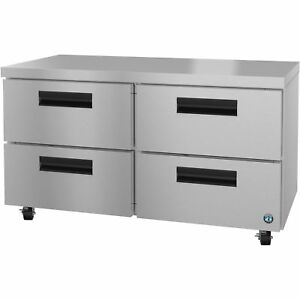 Hoshizaki Crmr60 d4 Refrigerator Two Section Undercounter Stainless Drawers