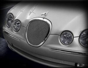 Jaguar S type Lower Bumper Mesh Grille bright Stainless Or Black 1999 2004