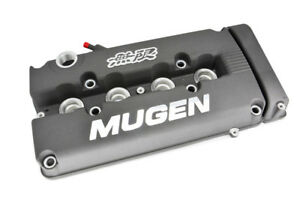Grey Mugen Style Engine Valve Cover For 1999 2000 Honda Civic Si Dohc Vtec
