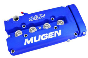 Blue Mugen Style Engine Valve Cover For 1999 2000 Honda Civic Si Dohc Vtec