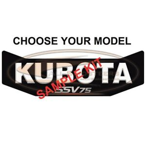 Back Door Decal For Kubota Ssv65 And Ssv75 Skid Steer Repalces Oem v1311 57163