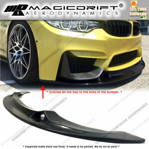 For Bmw F80 M3 F82 M4 F8x Mtc Style Front Bumper Lower Chin Spoiler Lip Poly