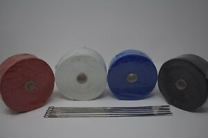 Usa Thermal Exhaust Wrap Header Pipe Heat Insulation Roll Dei 2 X 50ft 6 Ties