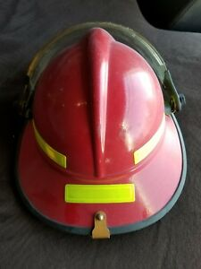 Morning Pride Fire Fighter Helmet Red Good Used