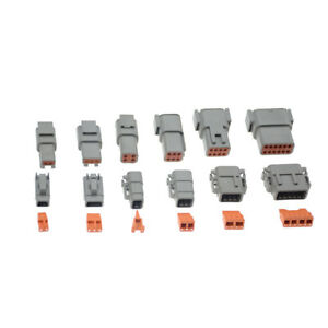 1set Deutsch Dtm 2 3 4 6 8 12pin Female Male Electrical Kit Wire Connector Plug