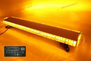 Yellow Amber 96 Led Strobe Light Bar Emergency Beacon Hazard Warning Flash 51