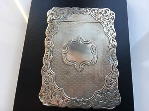 Antique Sterling Silver 1882 Victorian Card Case Fully Hallmarked