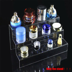 3 tier Acrylic Display Stand Cosmetics Retail Riser Nail Polish Jewelry Showcase