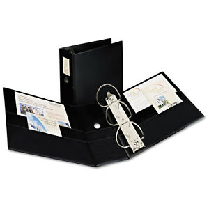 Avery Dennison Durable Binder With Two Booster Ezd Rings 11 X 8 1 2 5 Black