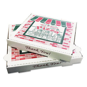 Pizza Box Takeout Containers 18in Pizza White 18w X 18d X 2h 50 bundle