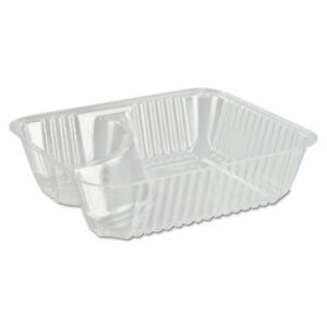 Dart Clearpac Small Nacho Tray 2 compartments Clear 125 bag